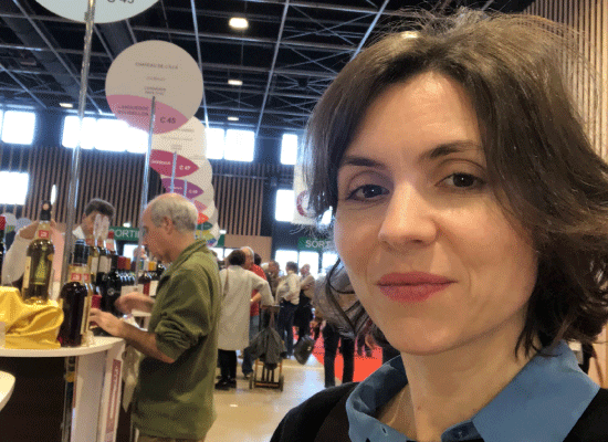 Maja Alves at a wine fair