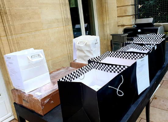 A picture of wine boxes by Gabriele Callegarin