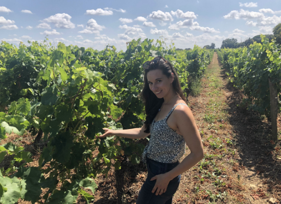Emily exploring a Vineyard!