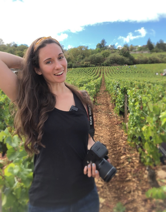 Emily capturing pictures below the Vineyard skies.
