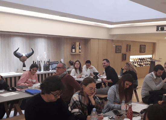 Wine course at Paris.