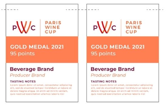 Paris Wine Cup Shelf Talkers